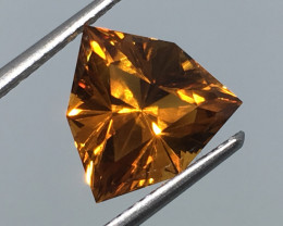 3.06 Carat VVS Citrine Master Cut Trillion Unreal Quality!