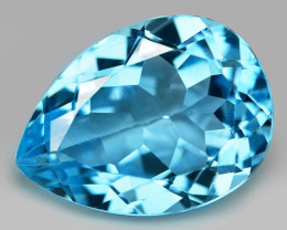 13.87 Carat Swiss Blue Natural Topaz Gemstone