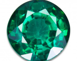 ~GLITTERING~ 2.15 Cts Vivid Green Natural Topaz Round Cut Brazil