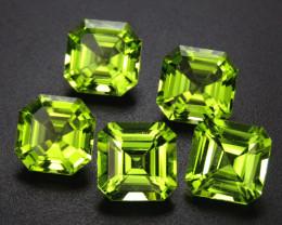 Peridot 7.66 ct Commercial Cut Peridot Gemstones