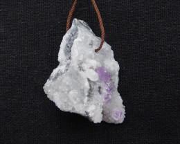 80cts Fluorite pendant, raw Fluorite, Druzy pendant G932