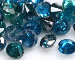1.04Ct 1.5mm Natural Calibrate Size Vivid Titanic Blue Diamonnd Lot BM0351