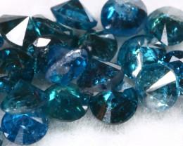 1.03Ct 2.0mm Natural Calibrate Size Vivid Titanic Blue Diamonnd Lot BM0356