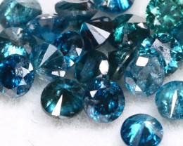 1.01Ct 2.1mm Natural Calibrate Size Vivid Titanic Blue Diamonnd Lot BM0357
