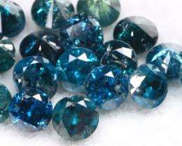 1.05Ct 2.2mm Natural Calibrate Size Vivid Titanic Blue Diamonnd Lot BM0358