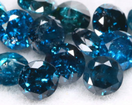 1.01Ct 2.4mm Natural Calibrate Size Vivid Titanic Blue Diamonnd Lot BM0360