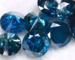 1.03Ct 2.6mm Natural Calibrate Size Vivid Titanic Blue Diamonnd Lot BM0361