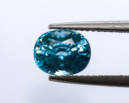 3.3ct Lab Certified Blue Cambodian Zircon