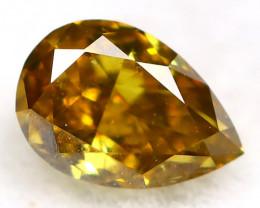 Yellowish Green Diamond 0.13Ct Untreated Genuine Fancy Diamond AT0308