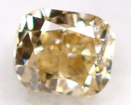Light Champagne Diamond 0.11Ct Untreated Genuine Fancy Diamond AT0309
