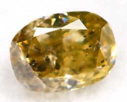 Yellowish Green Diamond 0.21Ct Untreated Genuine Fancy Diamond AT0310