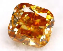 Reddish Orange Diamond 0.13Ct Untreated Genuine Fancy Diamond AT0311