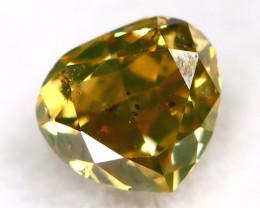 Yellowish Green Diamond 0.11Ct Untreated Genuine Fancy Diamond AT0322