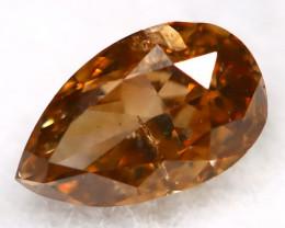 Champagne Orange Diamond 0.18Ct Untreated Genuine Fancy Diamond AT0330