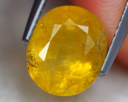 2.97Ct Natural Yellow Sapphire Oval Cut Lot LZ6708