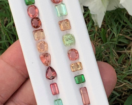 19.80 Carats Green and red colour Tourmaline Gemstones