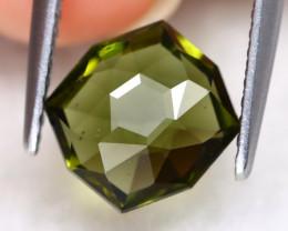 Moldavite 1.27Ct Master Cut Natural Czech Rep Green Moldavite A1903