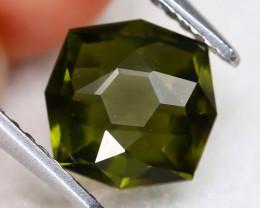 Moldavite 1.35Ct Master Cut Natural Czech Rep Green Moldavite C1908