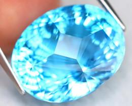 Swiss Topaz 26.46Ct VVS Master Laser Cut Natural Swiss Blue Topaz C2003
