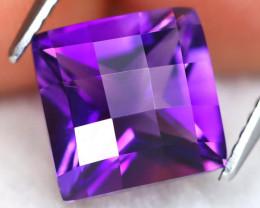 Uruguay Amethyst 3.29Ct VVS Pixalated Cut Natural Violet Amethyst C2010