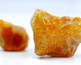 77.30 CT Natural - Unheated Orange Opal Rough