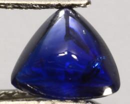 3.73Ct Fine Blue Natural Sri Lankan sapphire Trillion Bufftop