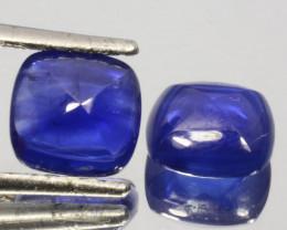 5.43Ct Natural Deep Blue Sapphire Sugar loaf pair