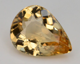 1.60  Ct Natural Heliodor ~ AAA Grade ~ Yellow Color