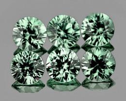 3.30 mm Round 6 pcs 1.07ct Green Sapphire [VVS]