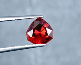 IF 2.85 Cts Fancy Cut Orange Red Natural Umbalite Garnet From Tanzania