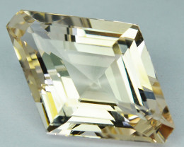 ~UNHEATED~ 6.55 Cts Natural Peach Topaz Fancy Kite Cut Brazil