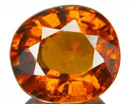 2.05 Cts Natural Hessonite Garnet Cinnamon Orange Oval Sri Lanka