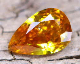 Yellowish Orange Diamond 0.26Ct Untreated Genuine Fancy Diamond A2101