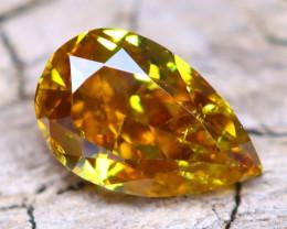 Greenish Orange Diamond 0.27Ct Untreated Genuine Fancy Diamond A2113
