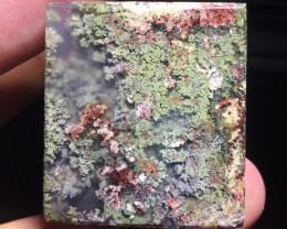 63.05 CT COLLECTOR PIECES MOSS AGATE PICTURE