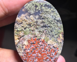 72.85 CT MOSS AGATE PICTURE GARDEN VIEW FROM TRENGGALEK INDONESIA