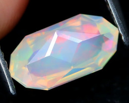 Welo Opal 1.04Ct Master Cut Natural Ethiopian Flash Color Welo Opal B2115