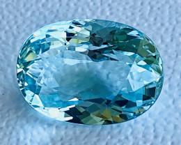 GIL certified 12.48 Carats Aquamarine Gemstone