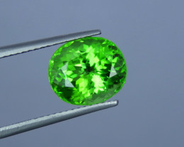 5.00 Cts Supreme Color Apple Green Natural Peridot From Pakistan