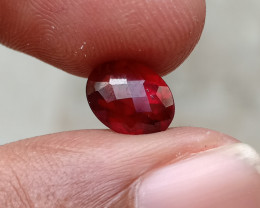 2Ct NATURAL GARNET ALMANDINE CHECKERED CUT 100% NATURAL+UNTREATED VA2084