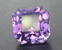 Attractive 10.45 ct asscher cut Amethyst