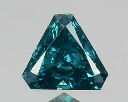 0.11 Cts Natural Electric Blue Diamond Fancy Trillion Cut Africa