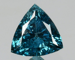 0.19 Cts Natural Electric Blue Diamond Trillion Cut Africa