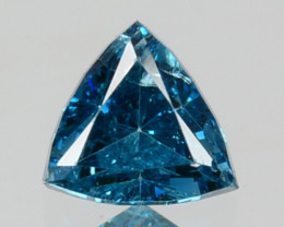0.22 Cts Natural Electric Blue Diamond Trillion Cut Africa