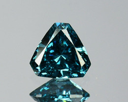 0.10 Cts Natural Electric Blue Diamond Fancy Trillion Cut 3mm  Africa