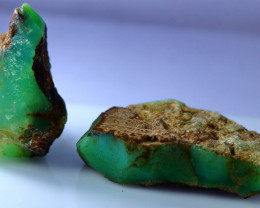 277 CT Natural & Unheated Green Chrysoprase Rough lot