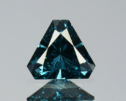 0.07 Cts Natural Electric Blue Diamond Fancy 3mm Triangle Cut Africa