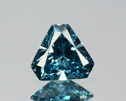 0.13 Cts Natural Electric Blue Diamond Fancy Trillion Cut Africa