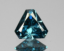 0.14 Cts Natural Electric Blue Diamond Fancy Trillion Cut Africa