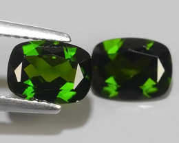 2.55 CTS NATURAL ULTRA RARE CHROME GREEN DIOPSIDE  RUSSIA NR!!